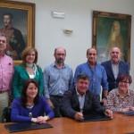 Foto alcalde, teniente de alcalde y junta rectora