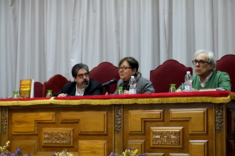 Luis García Jambrina, Josefa Montero y José Antonio Sánchez Paso